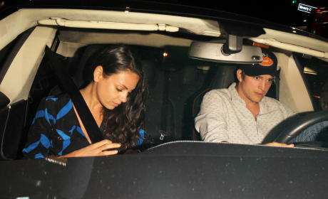 Ashton Kutcher and Mila Kunis Celebrate Her 32nd Birthday