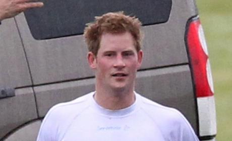 Prince Harry at Polo Match: What a Hunk!