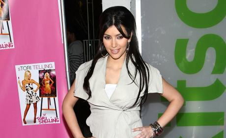 Kim Kardashian Attends Launch Party For Tori Spelling's Book, 'sTORI Telling'