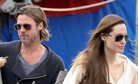 Brad Pitt, Angelina Jolie Staging PDAs, Photo Ops?