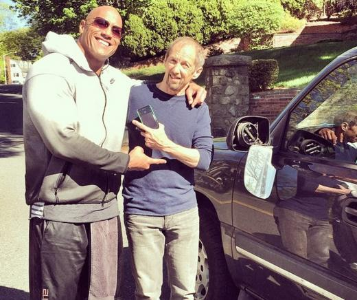 Dwayne Johnson with Car Accident Victim
