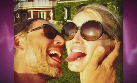 Jessica Simpson, Tongue Pose with Eric Johnson, Win Gnarliest Celebrity Selfie of the Week