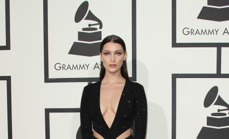 Bella Hadid at 2016 Grammys
