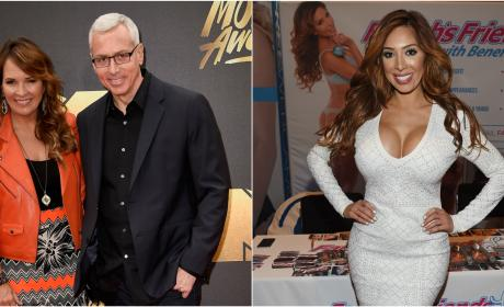 Dr. Drew Wife Farrah Abraham Split Photo