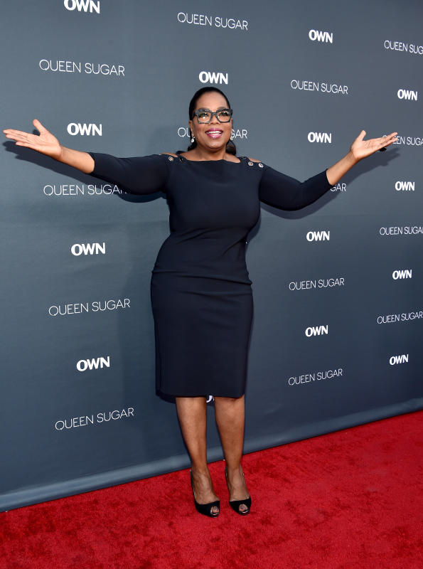 Oprah winfrey on the red carpet