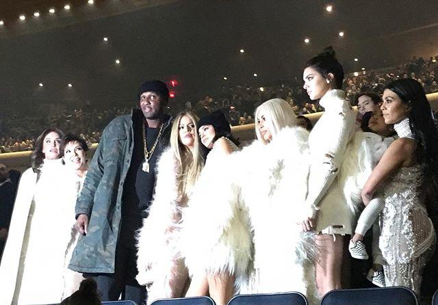 The whole fam damily showed up to support the 'Ye