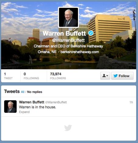 Buffett on Twitter