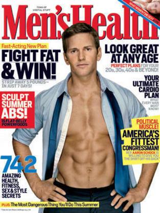 Aaron Schock Men's Health Cover