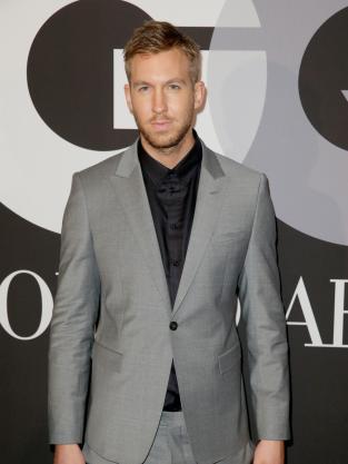 Calvin Harris in Grey Suit