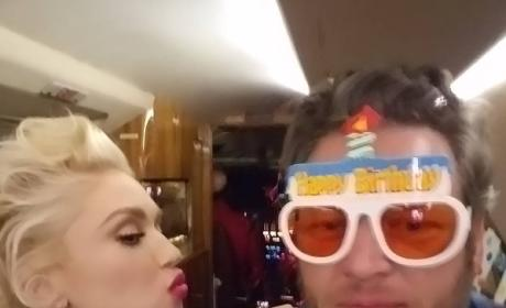 Gwen Stefani and Blake Shelton on His 40th Birthday