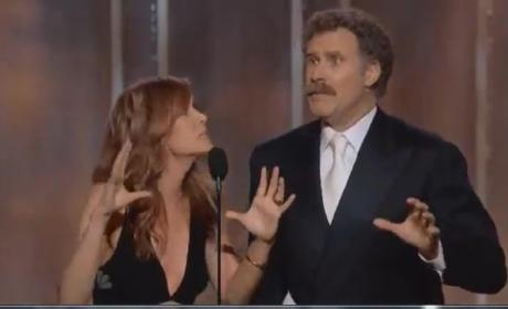 Will Ferrell and Kristen Wiig: Best. Award Presenters. Ever.