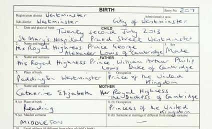 Prince George Has a Birth Certificate!