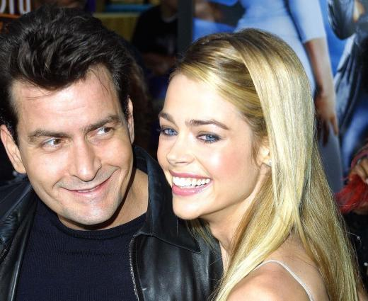Charlie Sheen and Denise Richards in 2002