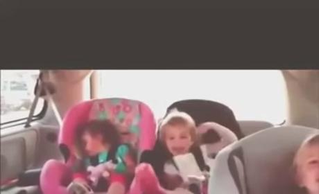 Sleeping Baby Awakens, Joins Adorable Dance Party