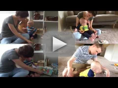 Baby all loses it each time he finishes a book
