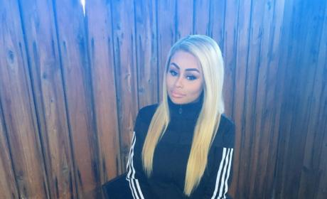 Blac Chyna Poses In Adidas