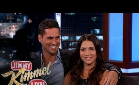 Andi Dorfman, Josh Murray on Jimmy Kimmel Live - Sneaking Around