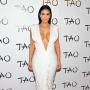 Kim Kardashian Cleavage White Drses Tao Nightclub 34th Birthday