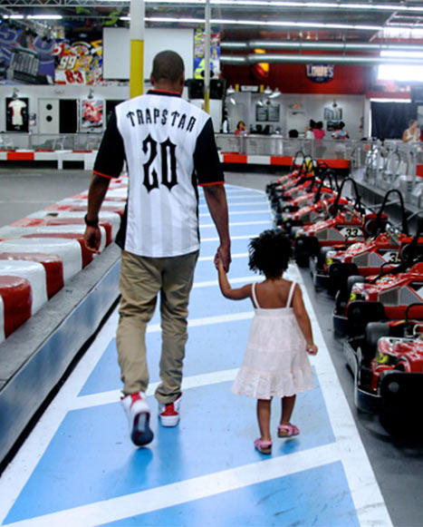 Jay and Blue Ivy Go Kart Racing