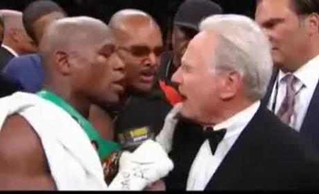 Floyd Mayweather Knocks Out Victor Ortiz, Lays Into Larry Merchant
