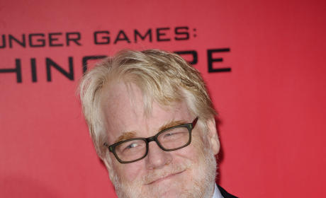 Philip Seymour Hoffman at Catching Fire Premiere