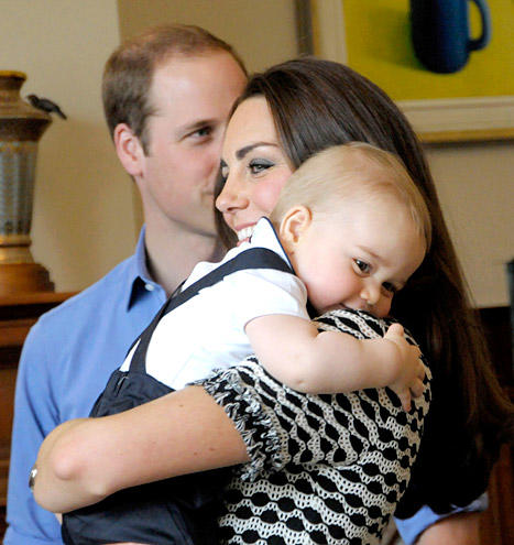 Prince George, Mommy Hug