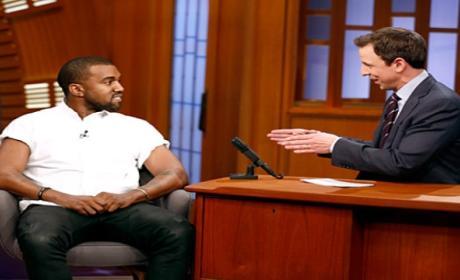 Kanye West Appears on Late Night, Talks Fatherhood and Music