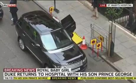 Prince George Arrives to Meet Sister