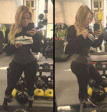 Khloe Kardashian Waist Training