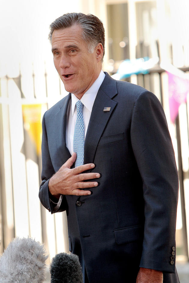Mitt Romney in England