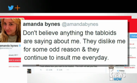 Amanda Bynes Returns to Twitter, Tells Followers: Don't Believe the Tabloids!!