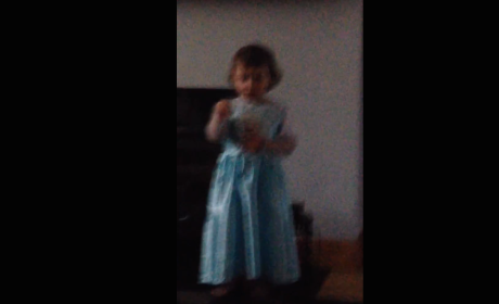 2-Year Old Sings Frozen, Yells at Mother: STOP LAUGHING!