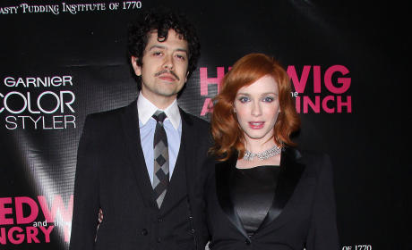 Geoffrey Arend and Christina Hendricks Photo