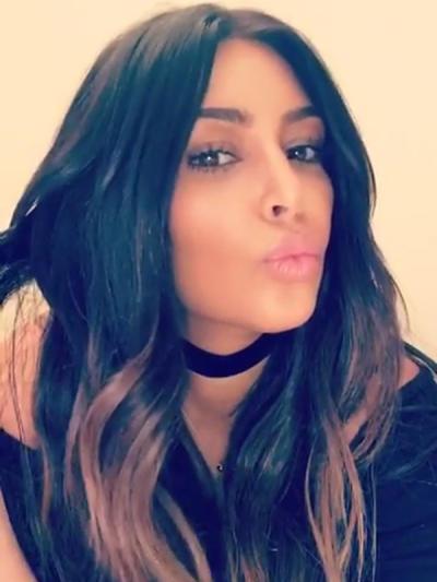 Kim Kardashian with Highlights