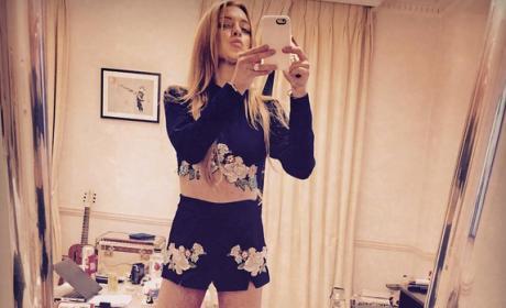 Lindsay Lohan Dresses Like Famous Charles Manson Murder Victim