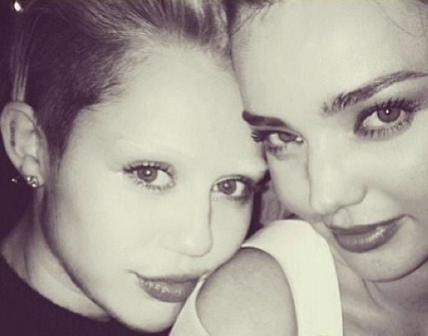 Miley Cyrus with Miranda Kerr