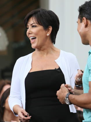 Kris Jenner on Set of Extra