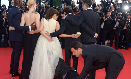 Vitalii Sediuk Crawls Inside America Ferrera's Dress on Cannes Red Carpet, Creeps Out World