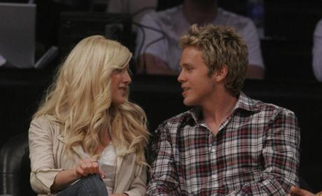Heidi Montag, Spencer Pratt Enjoy Lakers Game