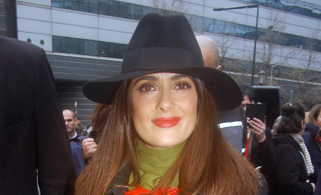 Salma Hayek promotes 'The Prophet' in Paris