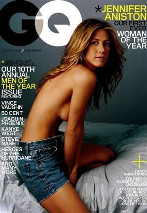 Half Naked Jennifer Aniston
