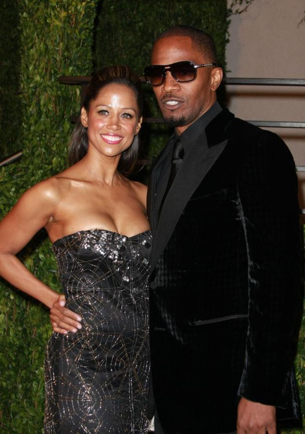Stacey Dash and Jamie Foxx