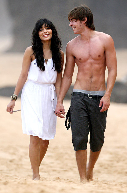 Shirtless Zac Efron and Vanessa Hudgens