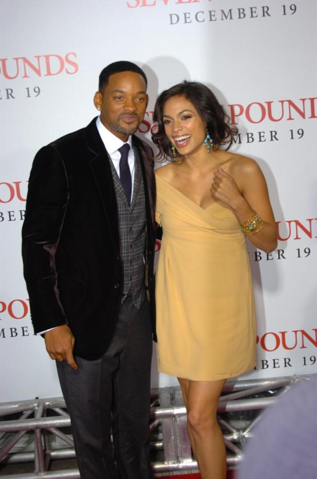 Will Smith and Rosario Dawson
