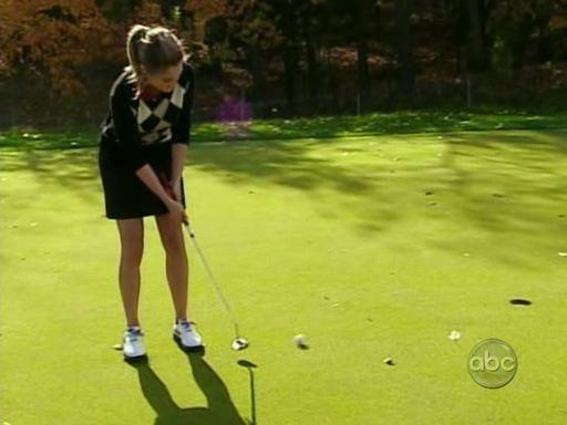 Molly Malaney Golfing