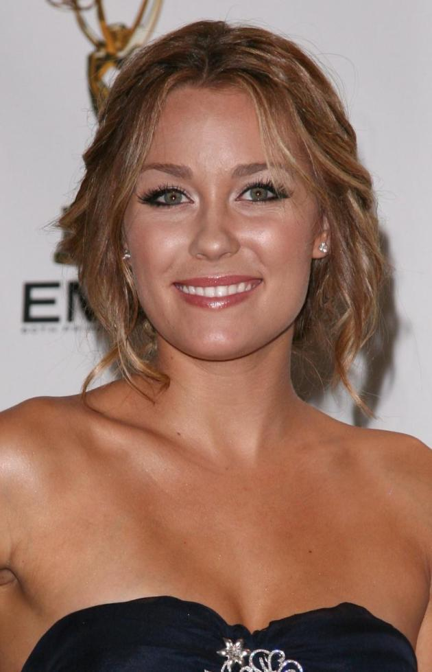 Lauren Conrad Smiles in Blue