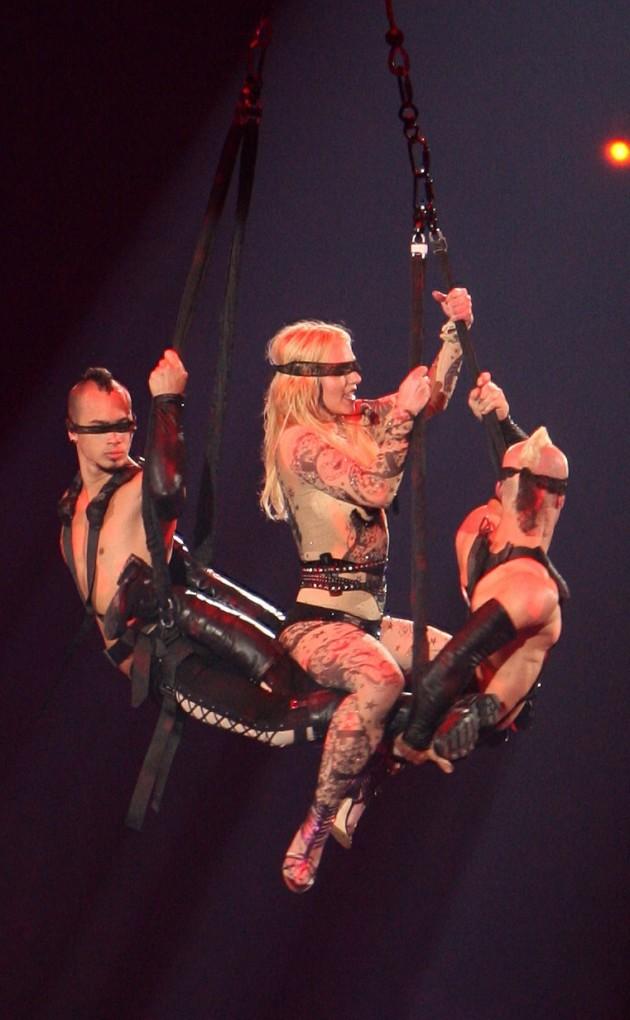 Britney Spears Blindfolded