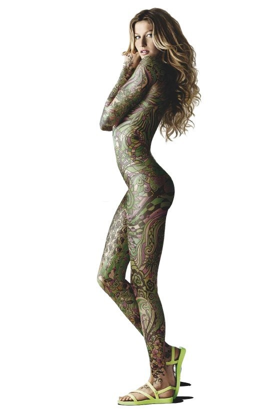 Gisele Nude, Body Paint