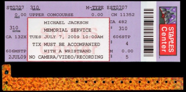 Michael Jackson Memorial Service Ticket