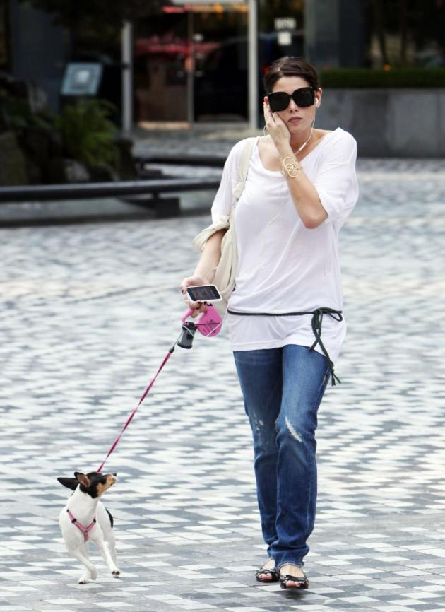 Walking Her Dog